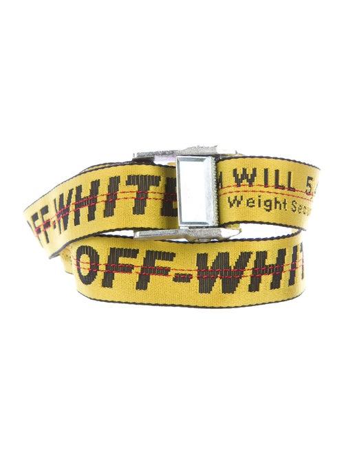 Off-White Industrial Logo Belt yellow