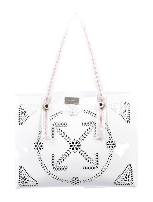 Off-White Macrame Shopping Bag White