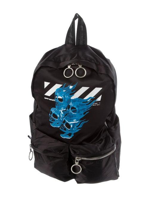 Off-White Skull Nylon Backpack White