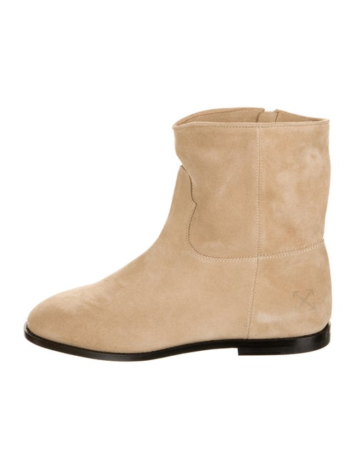 Off-White Suede Boots White
