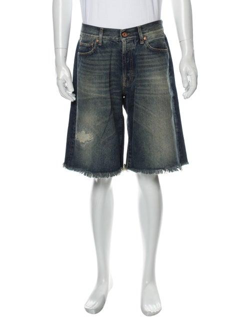 Off-White Diagonals Denim Denim Shorts White