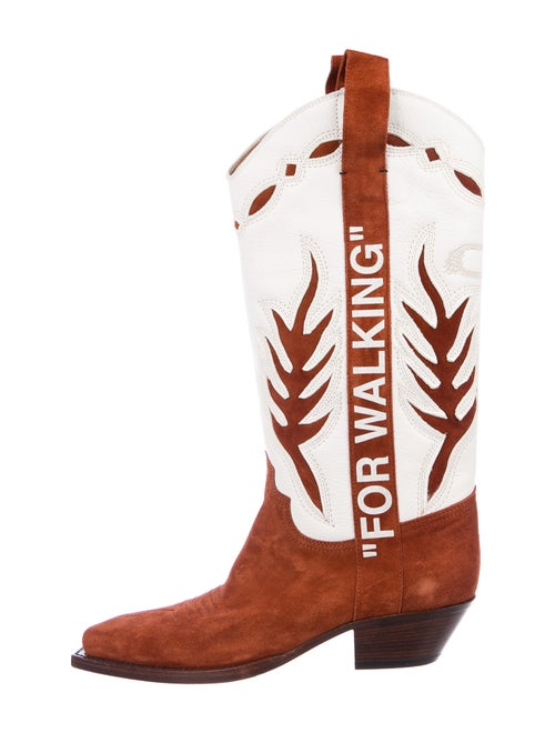 Off-White 2019 Cowboy Western Boots White
