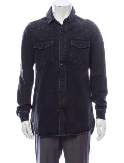 Off-White 2018 Long Sleeve Denim Shirt White