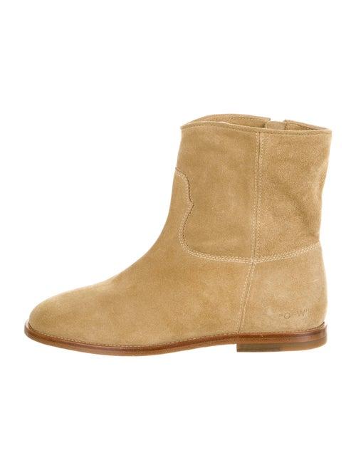 Off-White Work Wear Suede Boots White