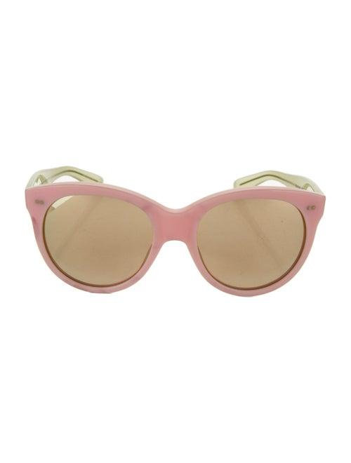 Oliver Goldsmith Oversize Mirrored Sunglasses Pink