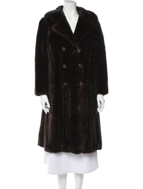 Oleg Cassini Fur Coat Brown