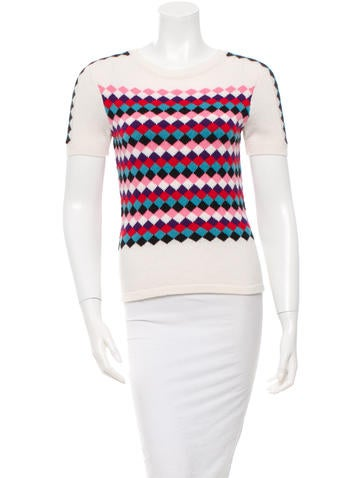 Olympia Le-Tan Geometric Pattern Sweater None