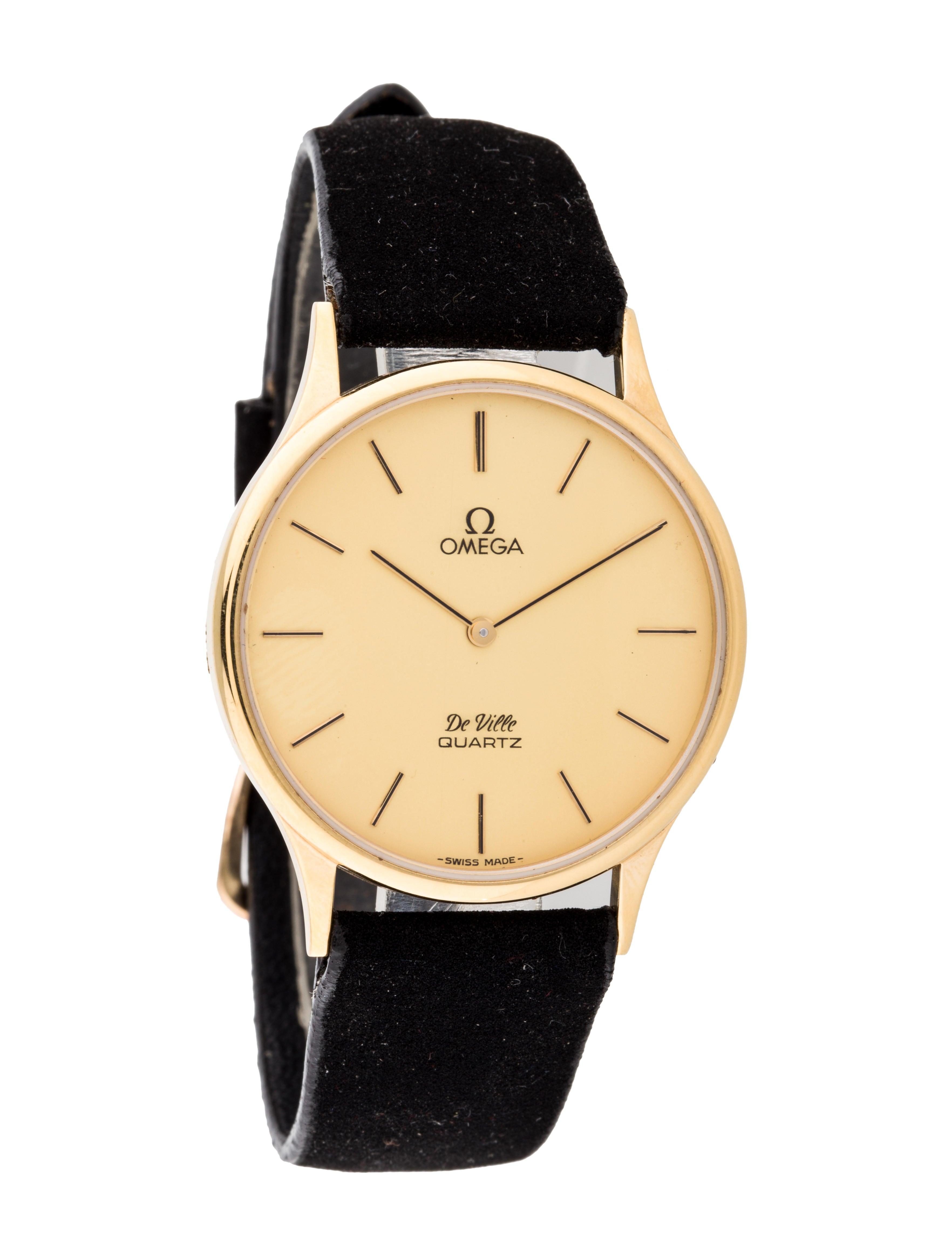 Omega De Ville Quartz Watch Strap Omg20168 The Realreal