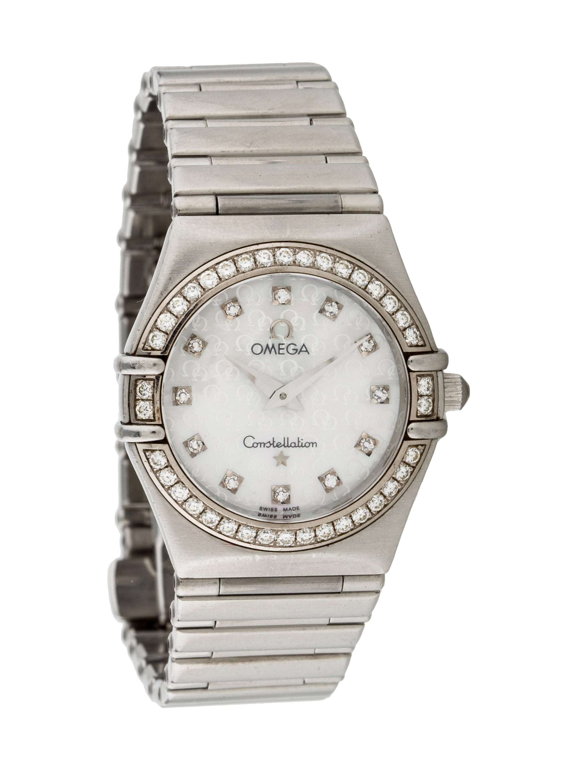 Omega constellation watch bracelet omg20482 the realreal for Omega watch constellation