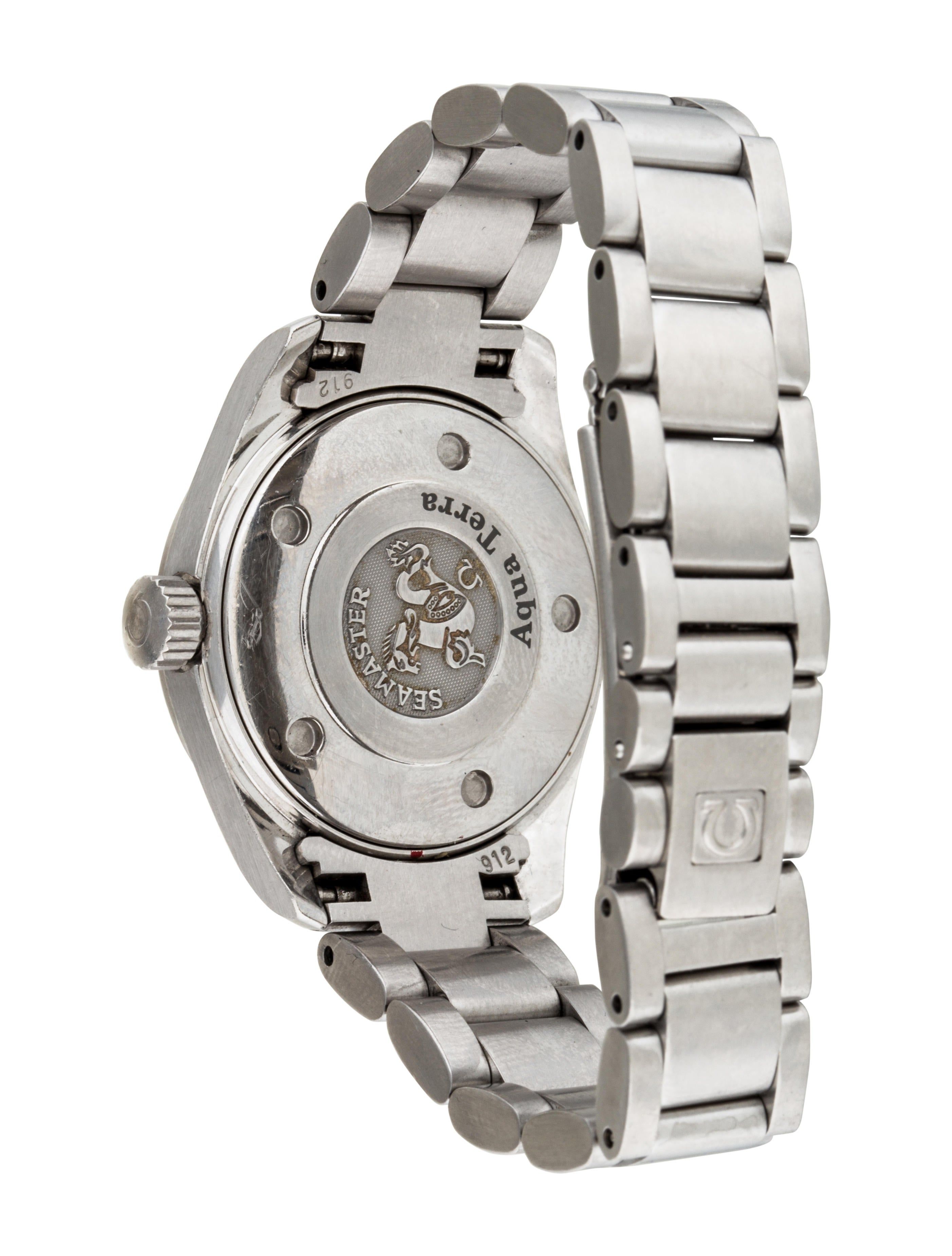 Omega aqua terra watch bracelet omg20591 the realreal for Aqua marine watches
