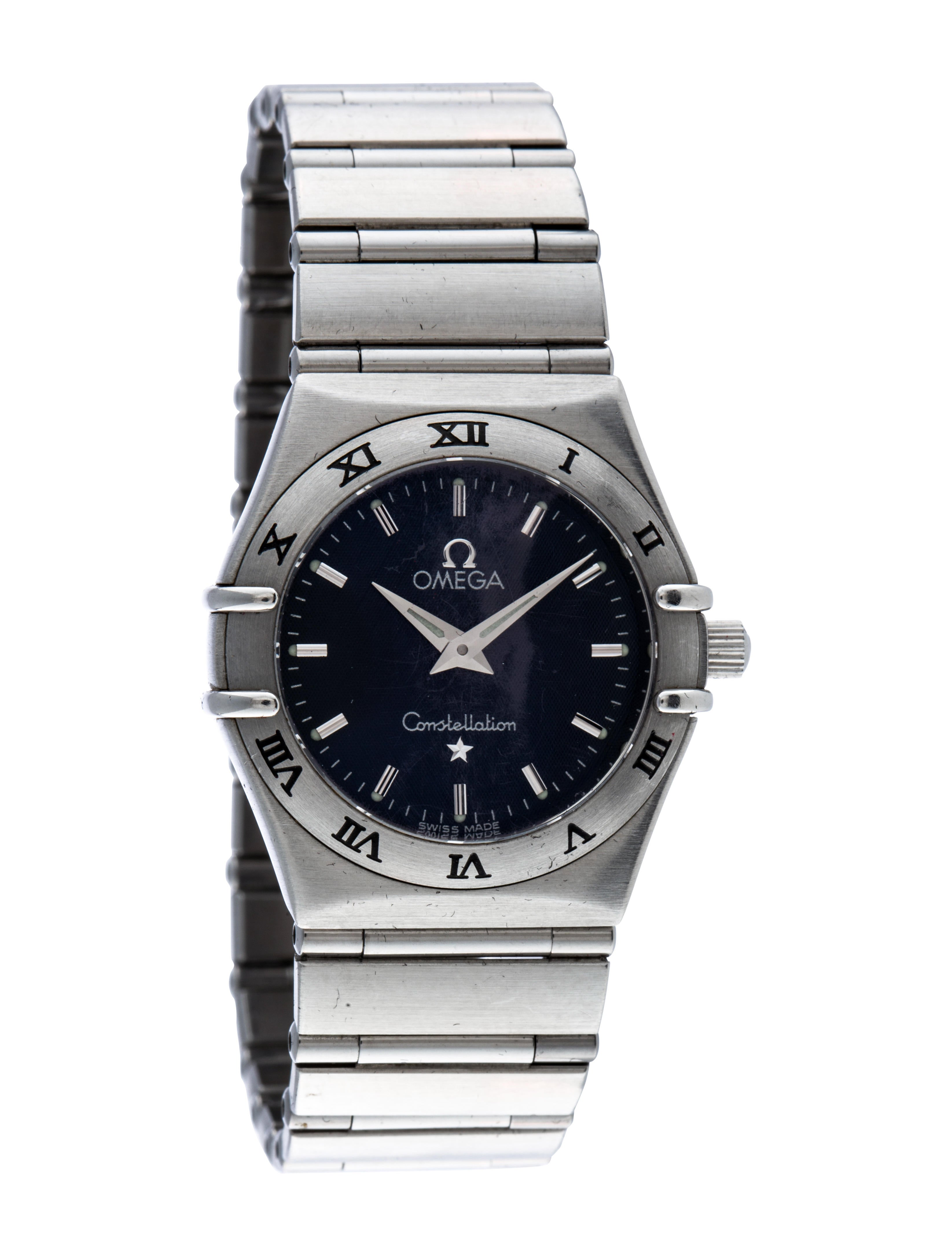 Omega constellation watch bracelet omg20592 the realreal for Omega watch constellation
