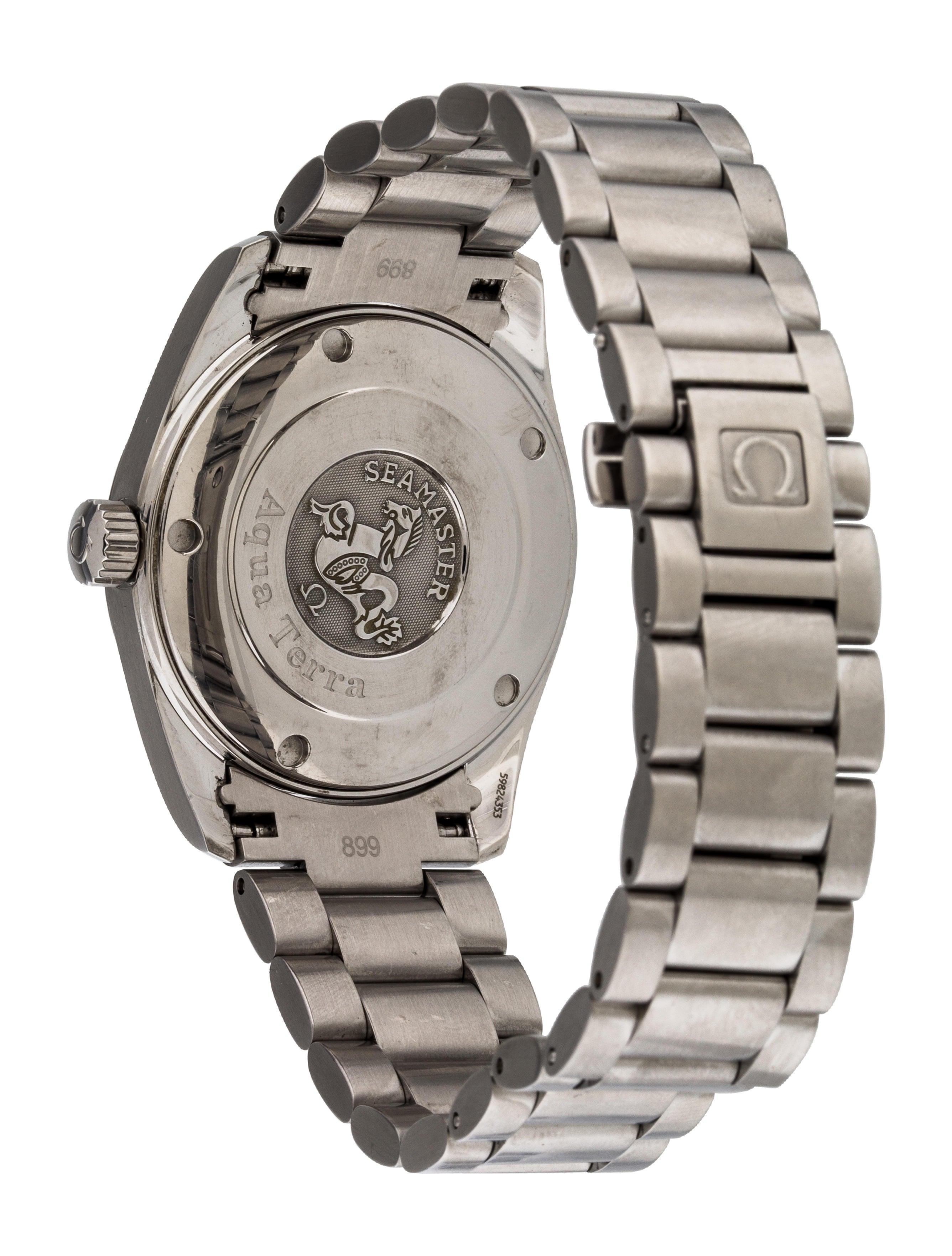 Omega aqua terra watch bracelet omg20942 the realreal for Aqua marine watches
