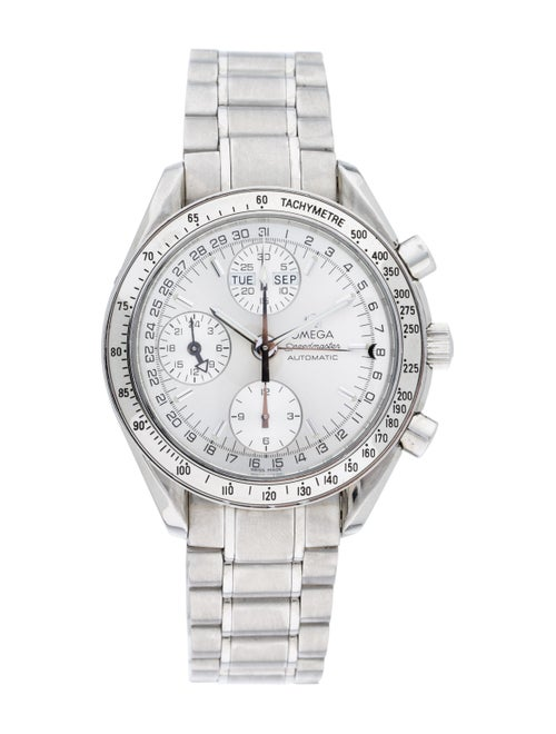 Omega Speedmaster Triple Calendar Watch Silver