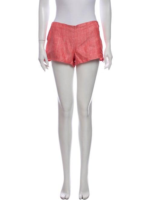 100% Capri Linen Mini Shorts Pink