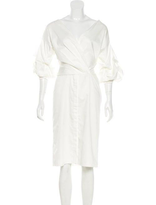 Johanna Ortiz Puff Sleeve Midi Dress