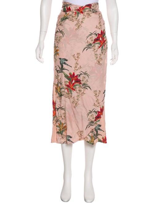Johanna Ortiz Floral Wrap Skirt Pink