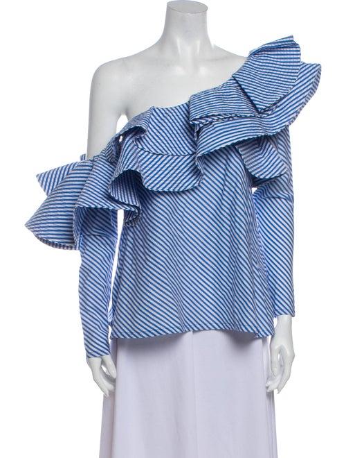 Johanna Ortiz Anastasia Striped Blouse Blue