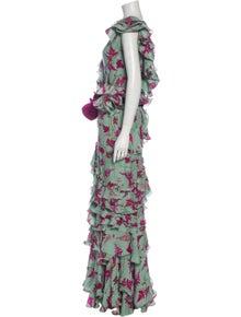 Johanna Ortiz Silk Long Dress