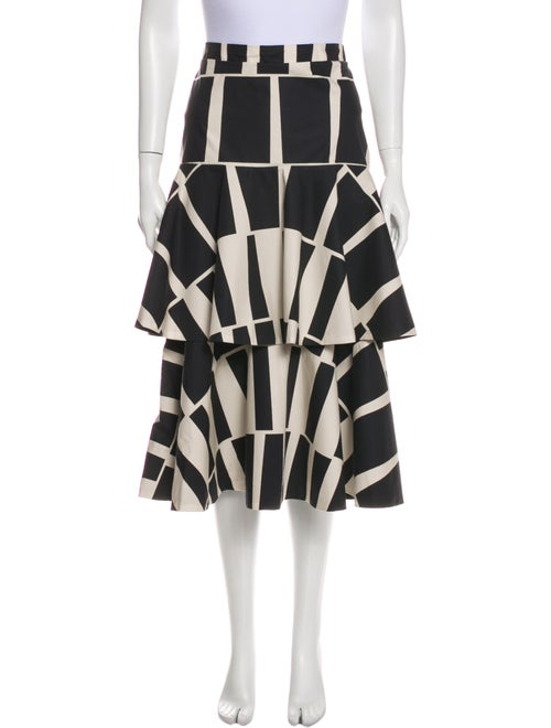 Johanna Ortiz Vanguard Midi Midi Length Skirt w/ T