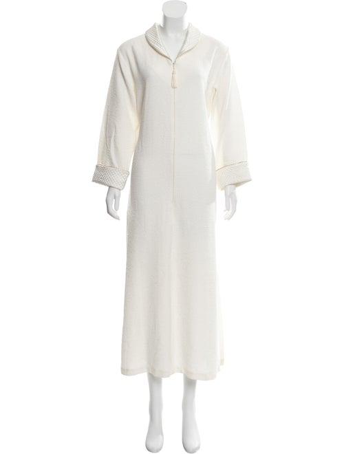 Oscar de la Renta Textured Maxi Dress