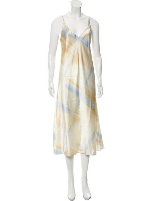 Oscar de la Renta Sleeveless Maxi Dress Blue