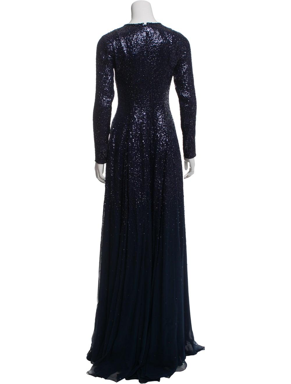 Oscar de la Renta Silk Maxi Dress w/ Tags Blue - image 3