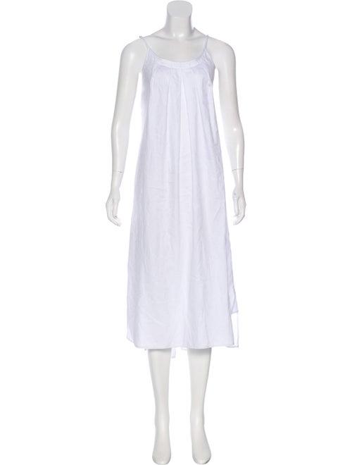 Oscar de la Renta Sleeveless Maxi Dress White
