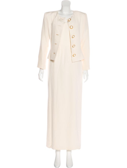 Oscar de la Renta Structured Maxi Dress Set Champa