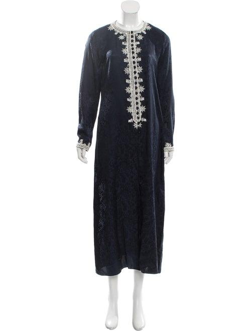 Oscar de la Renta Maxi Dress Blue