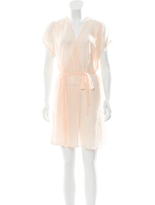 Oscar de la Renta Printed Short Sleeve Nightgown O