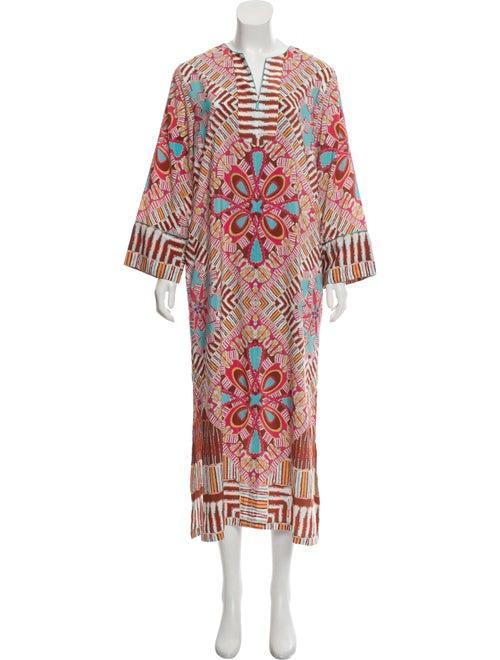 Oscar de la Renta Printed Maxi Dress multicolor