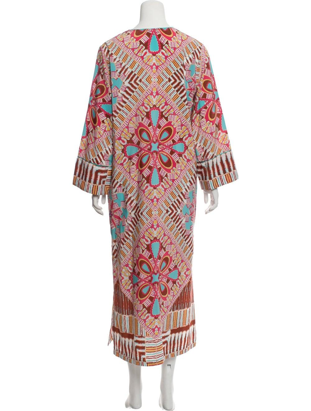 Oscar de la Renta Printed Maxi Dress multicolor - image 3