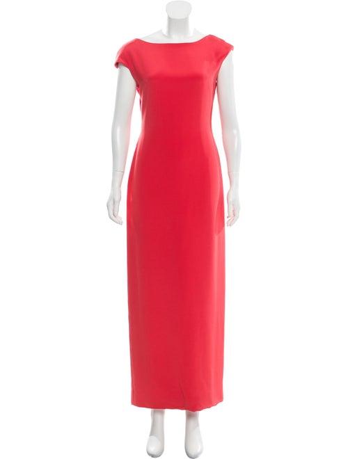 Oscar de la Renta Sleeveless Maxi Dress Coral
