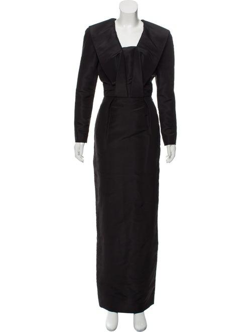 Oscar de la Renta Silk Maxi Dress Black