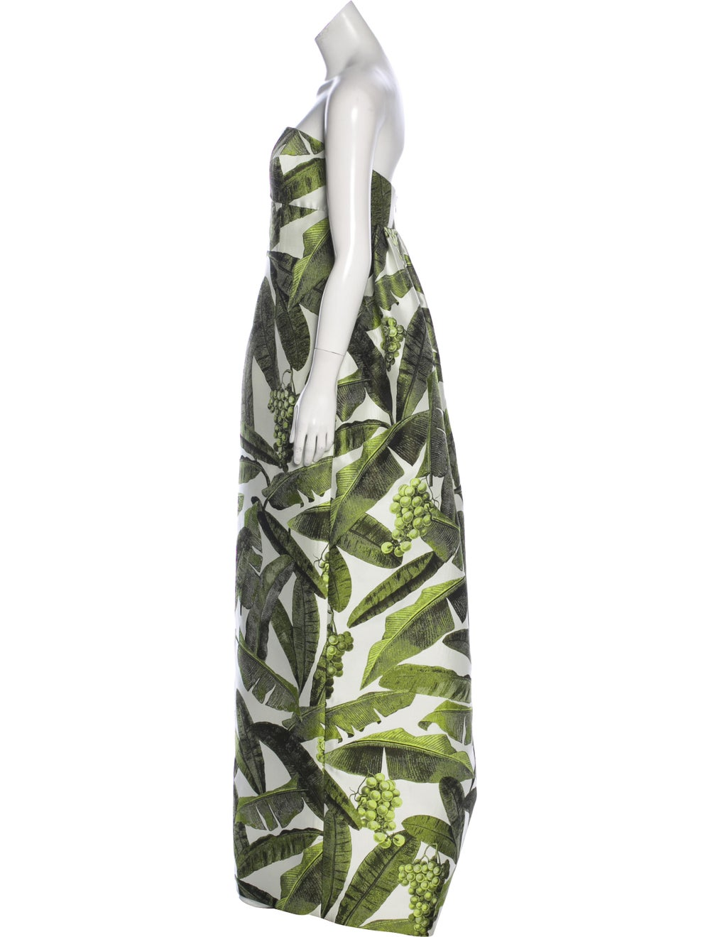 Oscar de la Renta Strapless Maxi Dress multicolor - image 2