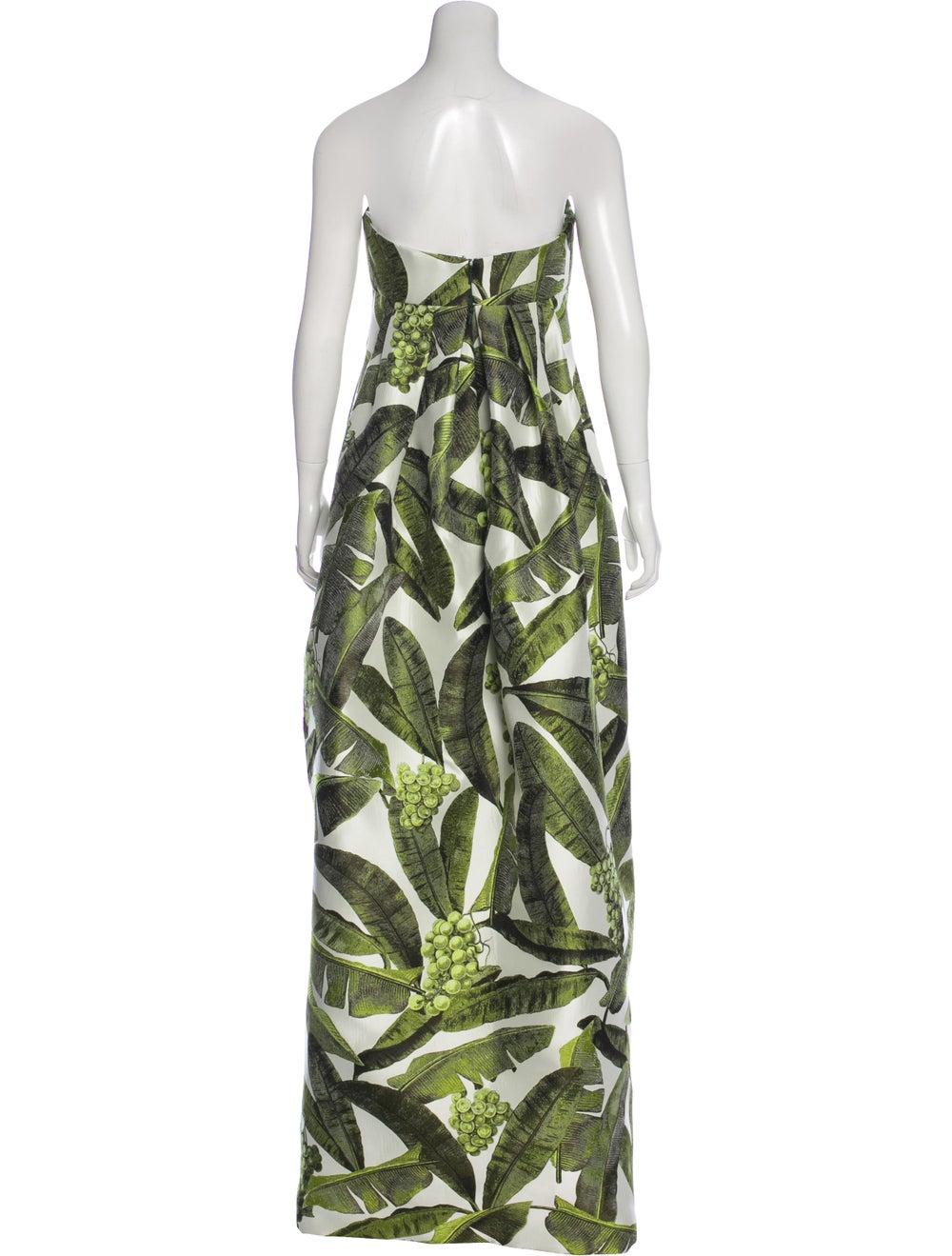 Oscar de la Renta Strapless Maxi Dress multicolor - image 3