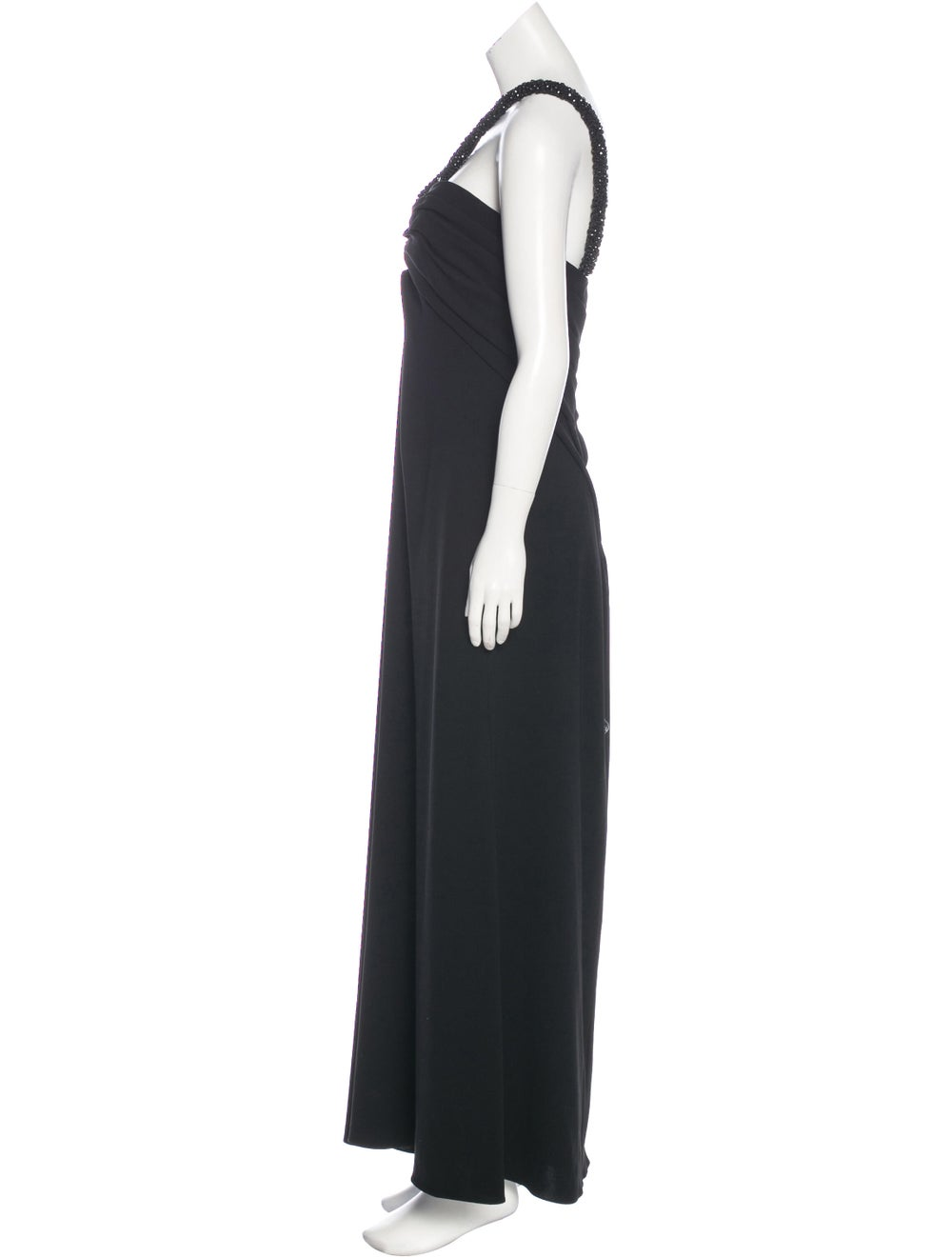 Oscar de la Renta Sleeveless Maxi Dress Black - image 2