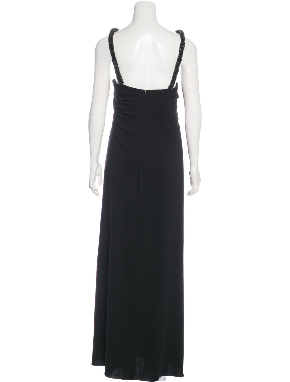Oscar de la Renta Sleeveless Maxi Dress Black - image 3