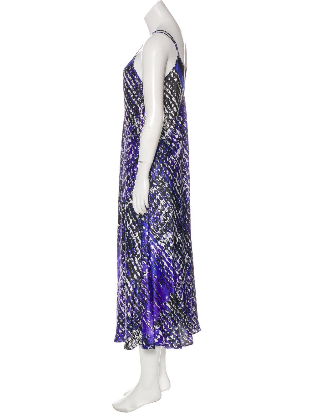 Oscar de la Renta Sleeveless Maxi Dress Purple - image 2