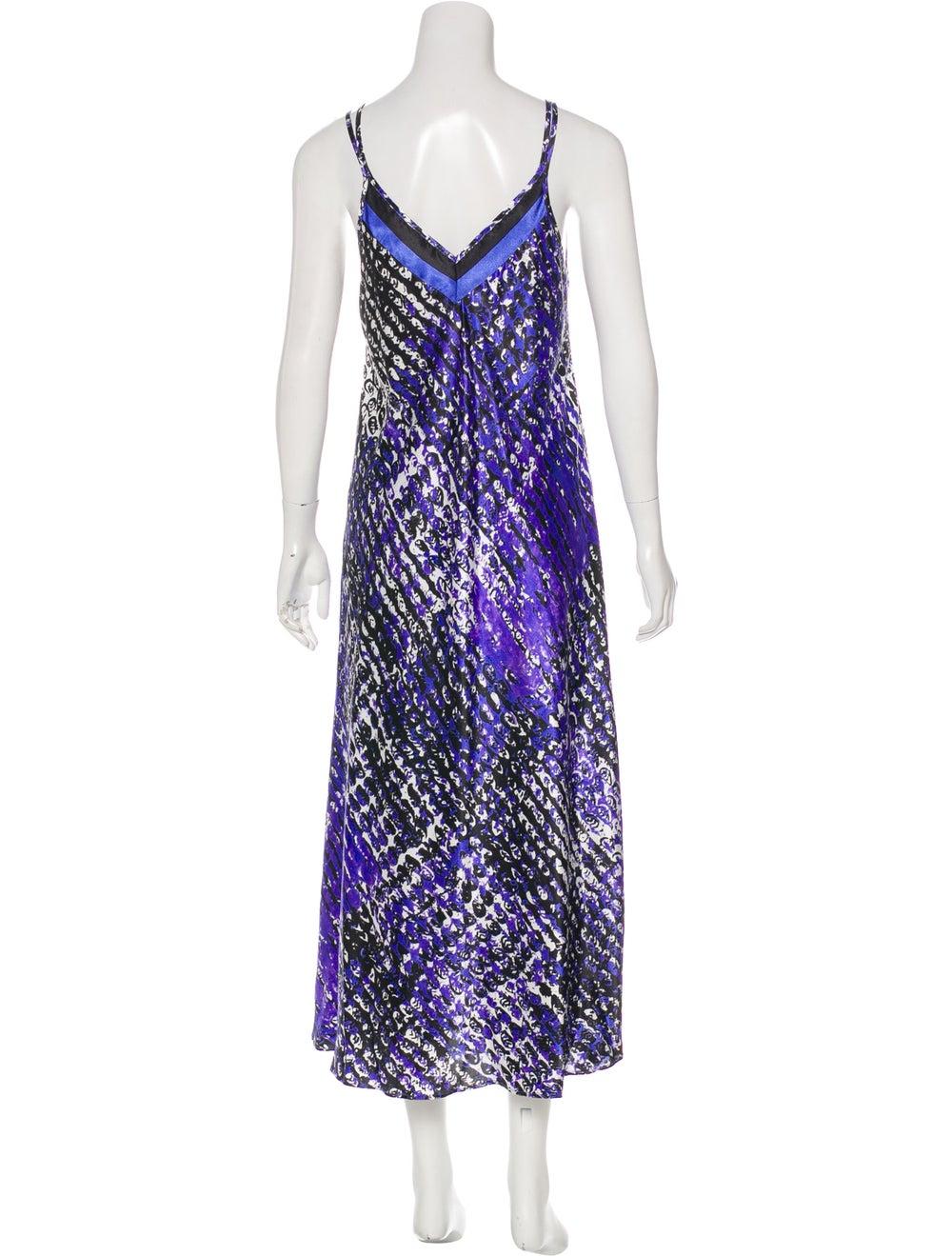Oscar de la Renta Sleeveless Maxi Dress Purple - image 3