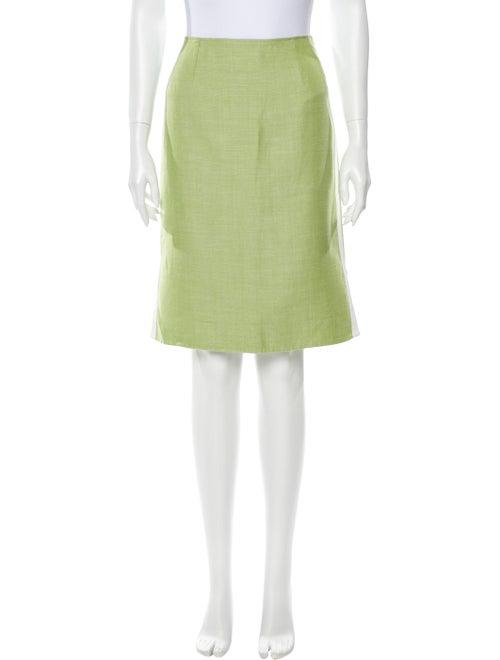 Oscar de la Renta Knee-Length Skirt Green