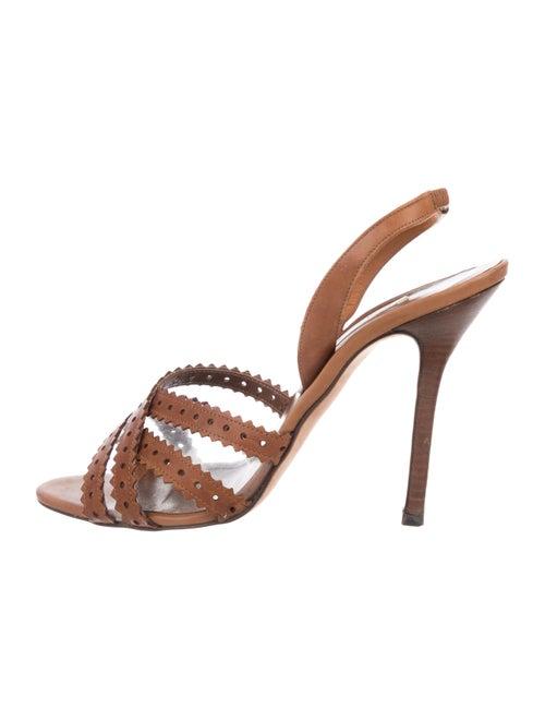 Oscar de la Renta PVC Slingback Sandals