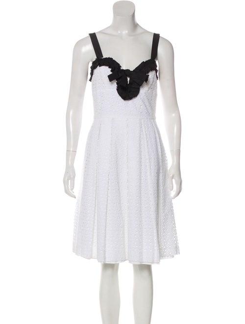 Oscar de la Renta Sleeveless Mini Dress White
