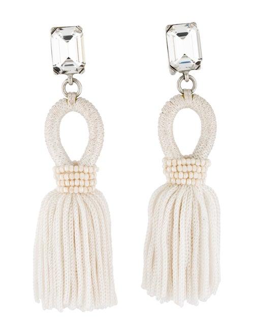 Oscar de la Renta Short Tassel Clip-On Earrings Si