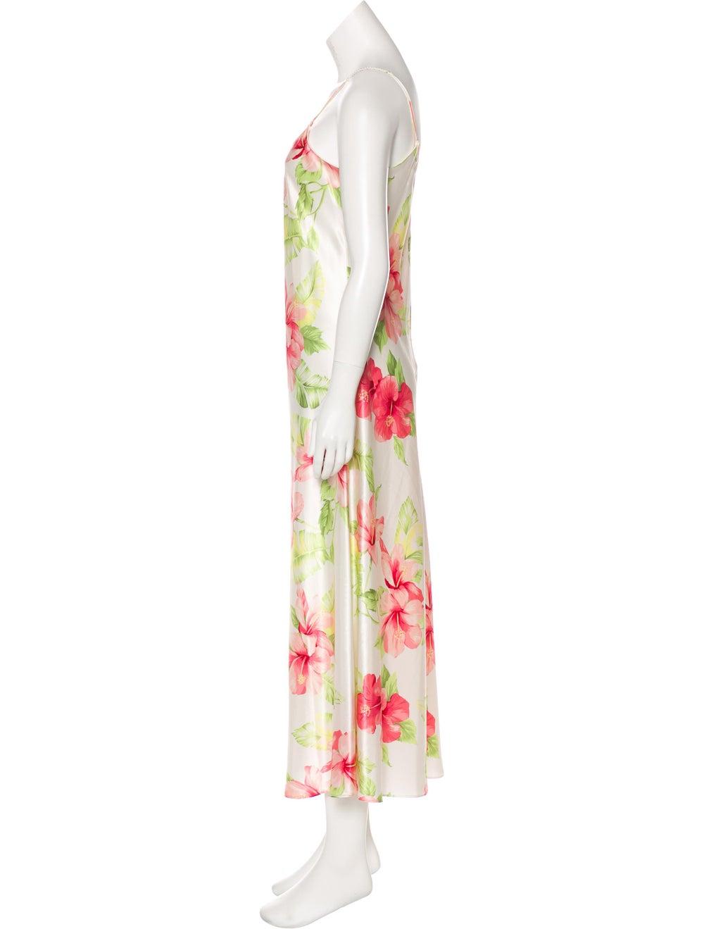 Oscar de la Renta Hibiscus Maxi Dress White - image 2
