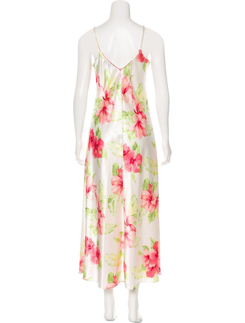 Oscar de la Renta Hibiscus Maxi Dress White - image 3