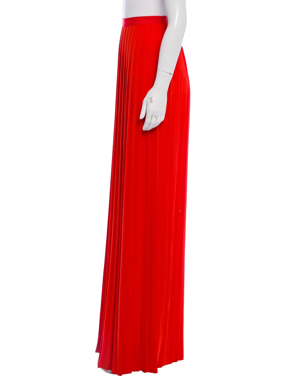 Oscar de la Renta Pleated Maxi Skirt Red - image 2