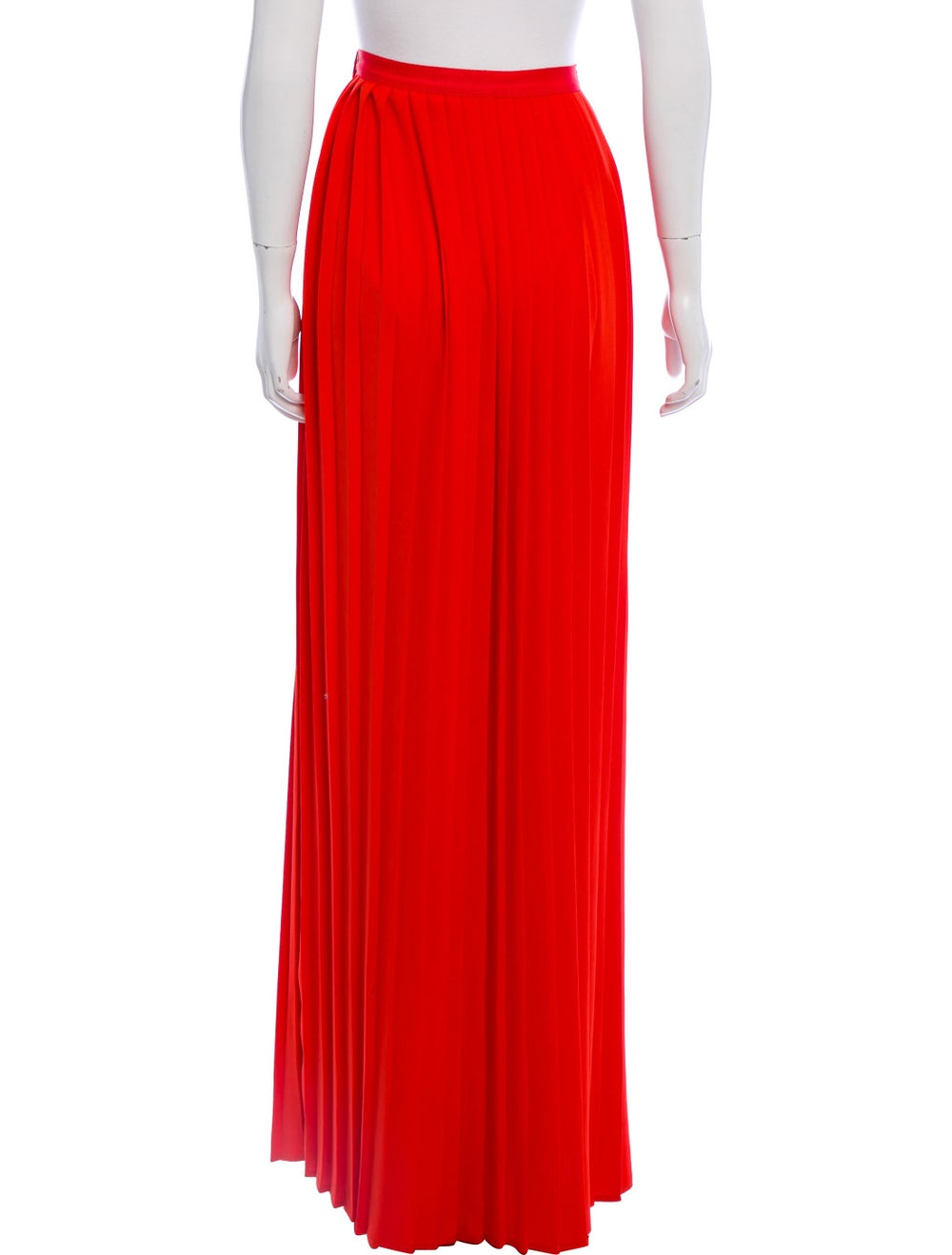 Oscar de la Renta Pleated Maxi Skirt Red - image 3