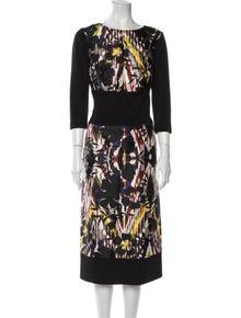 Oscar de la Renta 2015 Midi Length Dress