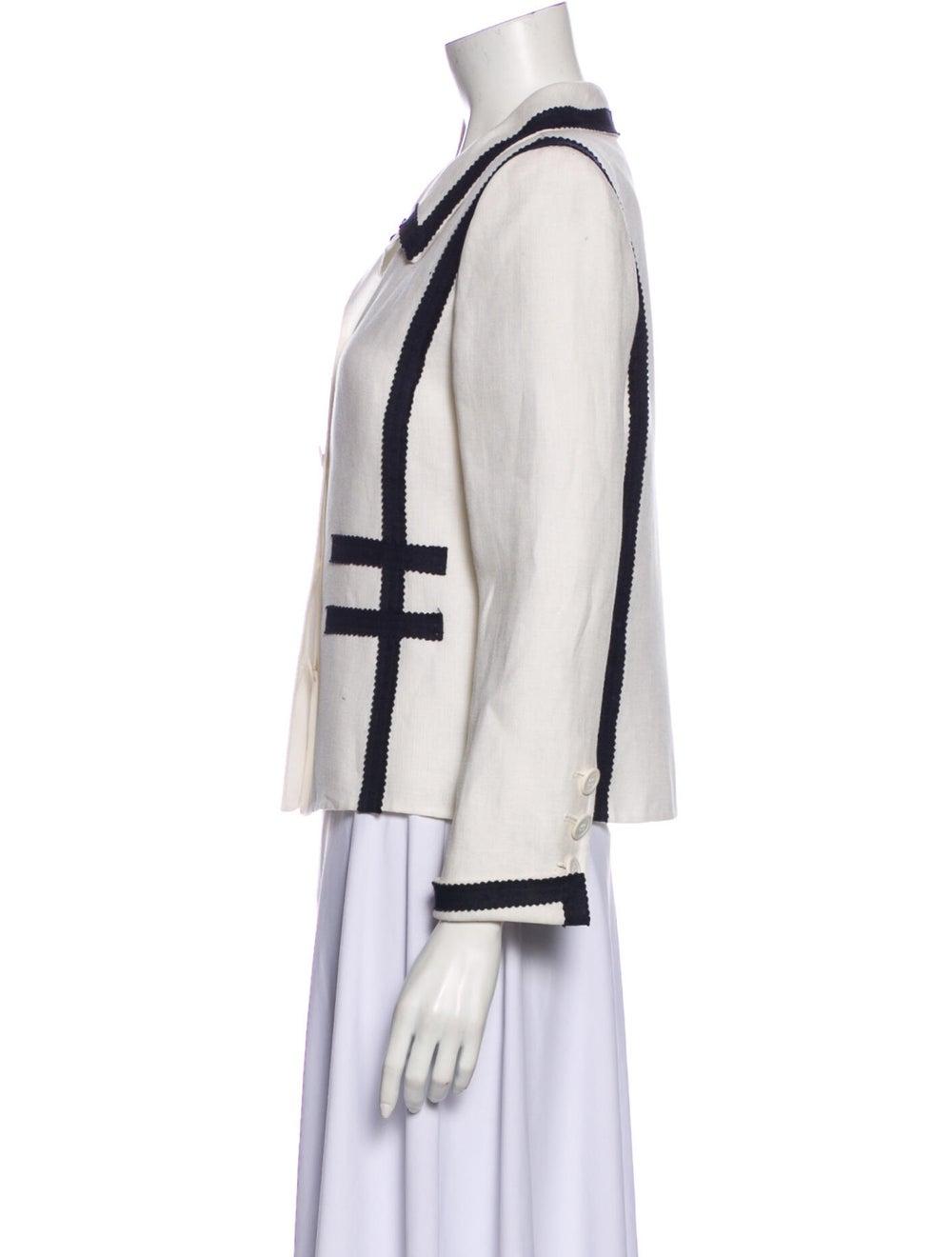 Oscar de la Renta Linen Jacket White - image 2